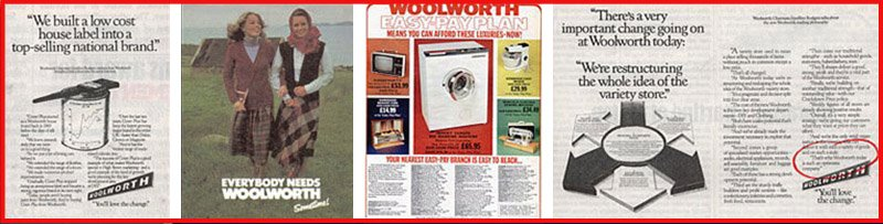 Woolworth became a big press advertiser during the 1970s, with a mixture of brand, product and corporate advertising - much of it linked to campaigns on ITV.