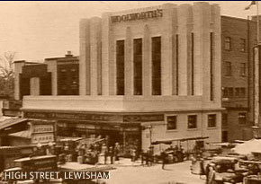 The F. W. Woolworth store in High Street, Lewisham which dominated the Market Place from 1913 until 1985