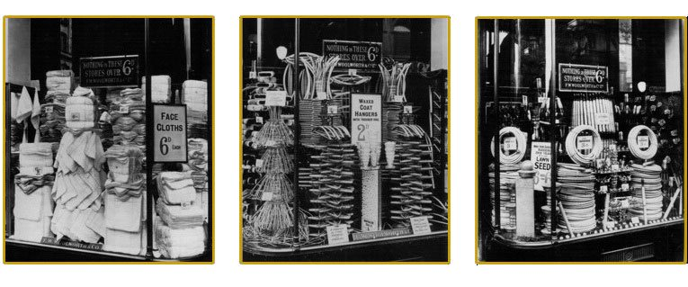 Spectacular window displays at Woolworth's, Church Street, Liverpool from the early 1930s