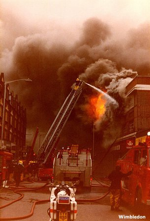 The F. W. Woolworth store in Broadway, Wimbledon, which was destroyed by fire in 1981 and did not re-open until 1982