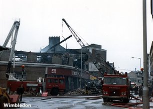 By the time the fire at Woolworth Wimbledon had been extinguished the store was only fit for demolition and a fireman lay dead with two colleagues in hospital.