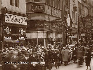 The F.W. Woolworth & Co. Ltd. pioneer store at Castle Street, Bristol in Somerset, which opened in 1912