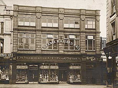 The only Woolworth store opened in Britain during 1917, at 5 Commercial Street, Aberdare, Glamorgan in Wales, which joined the chain on July 7th