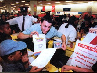 Pokemon Trading Card events were a big hit at Woolworths during the half term holidays