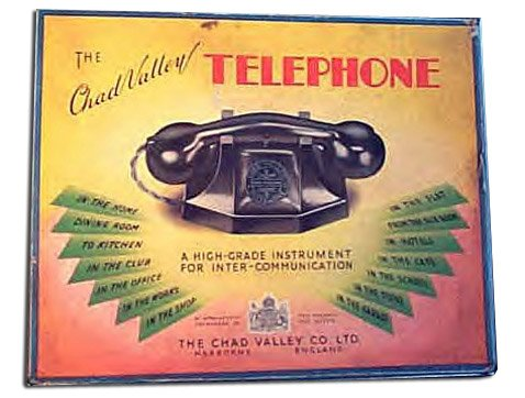 Chad Valley telephones were a big hit with children. The early models were a masterpiece of engineering, made of the some bakelite and basic wiring design as the GPO equivalent, the phones that many people were having installed at home for the first time