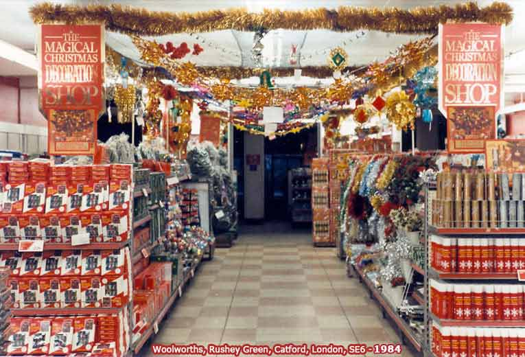 the magical christmas decorations shop part of the woolworth offer in 1984 image - 1980s Christmas Decorations
