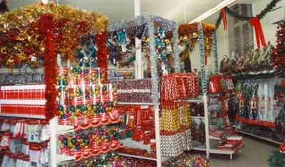 The display of Christmas Decorations in the flagship store in the Market Place, Kingston-upon-Thames in 1990 (Image with special thanks to Mr Andy Hayzelden)