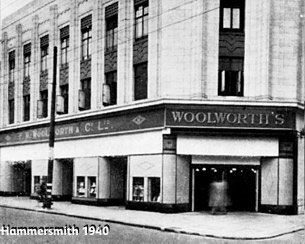 Woolworth's at Hammersmith shuttered for the blitz in 1940/41