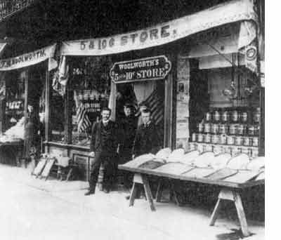 The original F. W. Woolworth store in Lancaster, Pennsylvania, USA pictured in about 1885