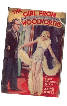 """The Girl from Woolworths"" by Karen Brown. A sixpenny best seller in 1929 from the Novel Library range"