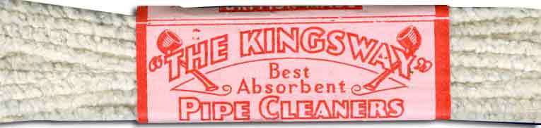 A packet of Kingsway Pipe Cleaners - a Woolworth own brand which took its name from the address of the London HQ from 1912 until 1929 in Victory House, Kingsway, London