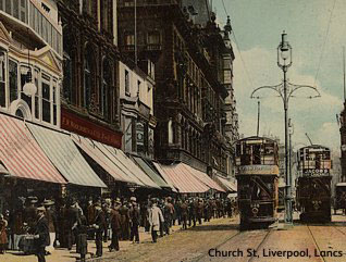 F.W.Woolworth's first Threepenny and Sixpenny Store branch in Liverpool, Lancashire in 1909