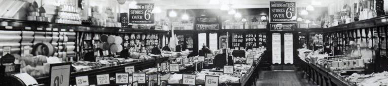 The interior of a typical pre-War British Woolworths - Maldon, Essex in 1932