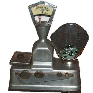 Pic'n'Mix scales like this featured in Woolworths stores from 1909 to 1964