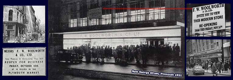 The Plymouth Woolworths finally returned to a bricks and mortar store in November 1951 after ten years of trading in the local market. For much of the next sixty years it was the largest store in the company