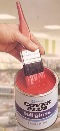 Sales of Coverplus Poppy Red Gloss Paint rocketed in the UK after Woolworth's decided to use it to paint the window frames on the salesfloor in 1983.