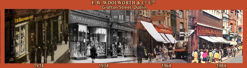 At the heart of Dublin's most fashionable shopping area for seventy years, the F.W. Woolworth store in Grafton Street (1914-1984)