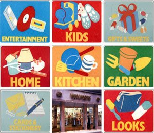Brightly coloured signs were used to explain the new ranges to customers visiting their local Woolworths. These signs were used from 1987 until 1994.