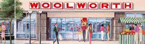 An artist's impression of a  Woolworth store in Germany in the 1990s
