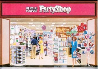 A Herald Square party shop, one of a number of diversification ideas tested in an attempt to find a new formula for Woolworths in the 1990s
