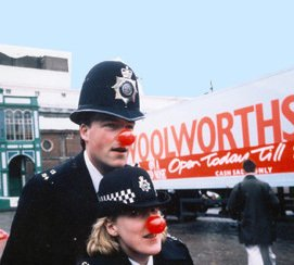 Woolworths sponsored the first ever 'Red Nose Day' on Friday 10 March 1988