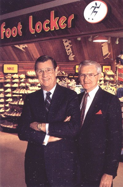 F.W. Woolworth Co. CEO Harold E. Sells and COO Frederick E. Hennig, who took up their appointments on 1 February 1987