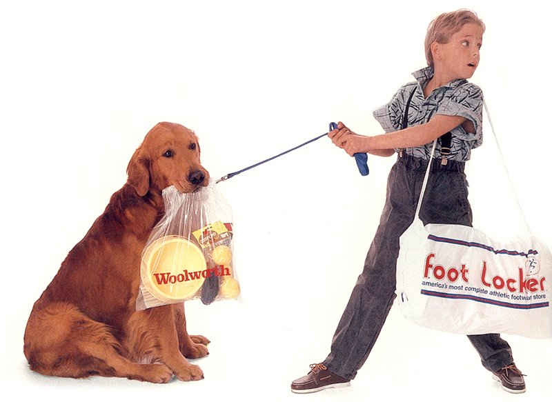 By the late 1980s Woolworth Variety was in the dog house, despite rapidly rising sales and profits, as clearly illustrated by this image on the back cover of the giant Corporations 1986 Annual Report