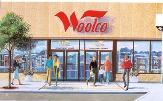 A Canadian Woolco store in the early 1990s