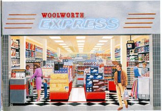 Woolworth Express - a compact store format for malls established in 1989 and extended in 1990