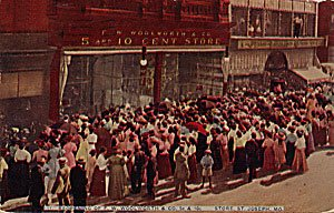 The opening of a new F. W. Woolworth & Co. store in St Joseph Missouri in 1910 brought a huge crowd
