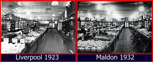 Two Woolworth stores, two different parts of the country, nine years apart - yet the salesfloors look virtually identical. That consistency of presentation was the hallmark of the chain stores, with F. W. Woolworth charting the way for others to follow.