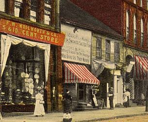 Woolworth Five-and-ten store in Butler, Pennsylvania, USA pictured in around 1910