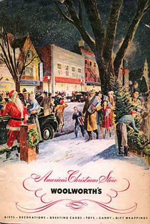 In marked contrast to the austerity and rationing facing shoppers at its European subsidiaries, the American F.W. Woolworth Co its clientele to a new, full-colour Christmas Catalogue in 1940.