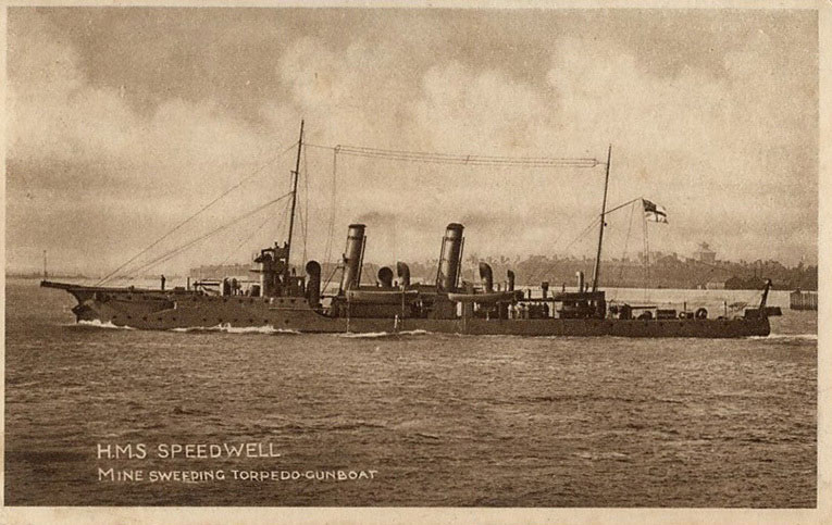HMS Speedwell - a British Warship in the First World War