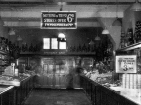 Nothng over sixpence in the sweets department at a British branch of the F. W. Woolworth and Co. Ltd. 3D and 6D Stores