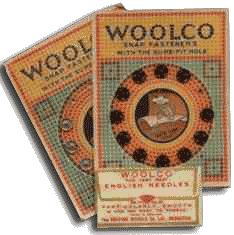Production of Woolco branded notions was switched from European to American factories during the First World War