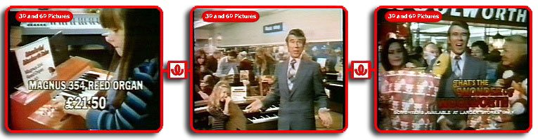 Leslie Crowther starred in the first advertisement in the Wonder of Woolworth campaign for, of all things, electric organs, alongside Virtual Museum fan and superstar Nicola Greenwood.  The date - 1975/6