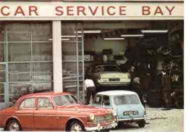 The Car Service Bay at Woolco in Kenilworth in 1970