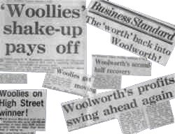 Some of the many column inches of editorial that accompanied the Wonder of Woolworth campaign of the mid and late 1970s