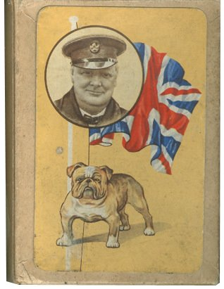 The favourite design of playing cards from Woolworth's in World War II featured a patriotic image of 'the British bulldog' - Prime Minister Winston Churchill