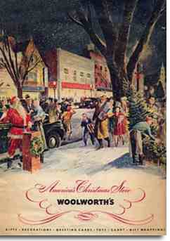 F. W. Woolworth's first ever full colour Christmas catalogue, published in the USA in 1939 when Britain was already at war.
